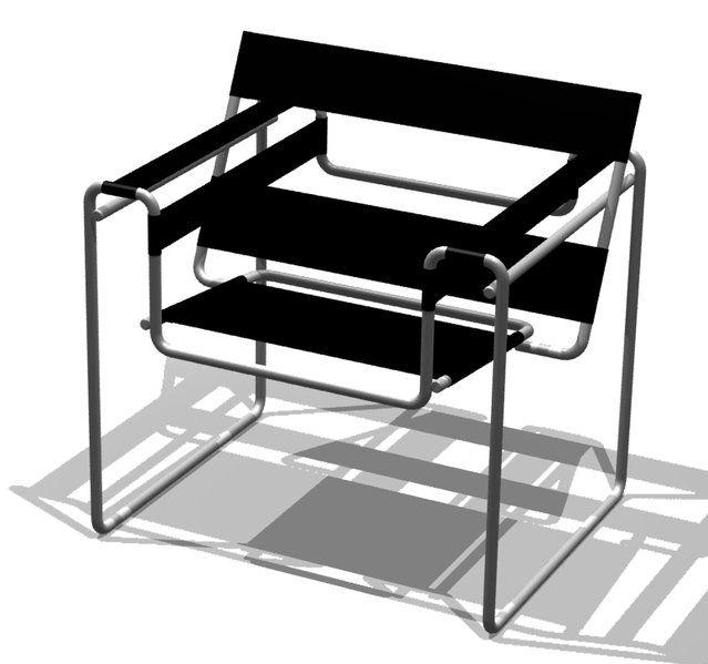 Uno de los sillones más característicos concebidos por la Bauhaus.