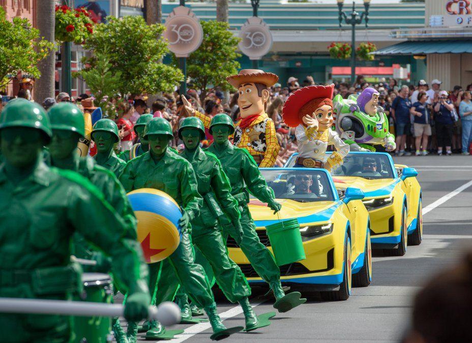 Woody y sus amigos de Toy Story celebraron en la antesala de su cuarta película.