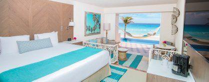 Un cuarto con gran vista en el Panama Jack Resorts Cancún.