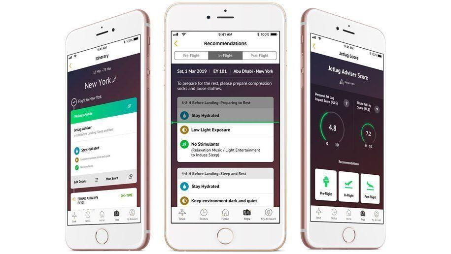 La nueva app ayudará a que el pasajero no se canse de más por el jet lag.