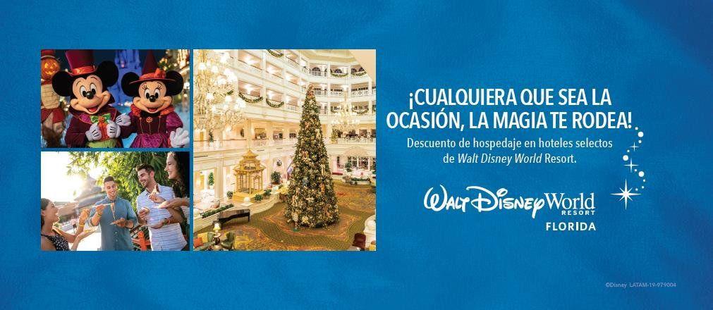 Disney World Resort ofrece descuentos en hoteles y varios beneficios adicionales.