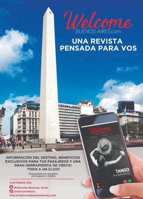 Welcome Buenos Aires permite acceder a información sobre Buenos Aires y a beneficios para el viajero.