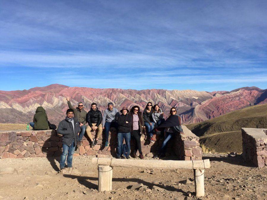 El grupo disfrutó de un buen clima en Purmamarca.