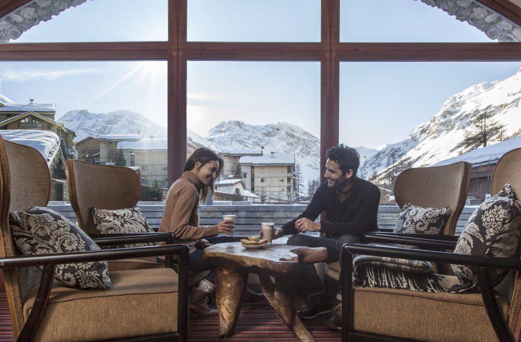 Las increíbles vistas de los Alpes en ocasiones se disfrutan de a dos.