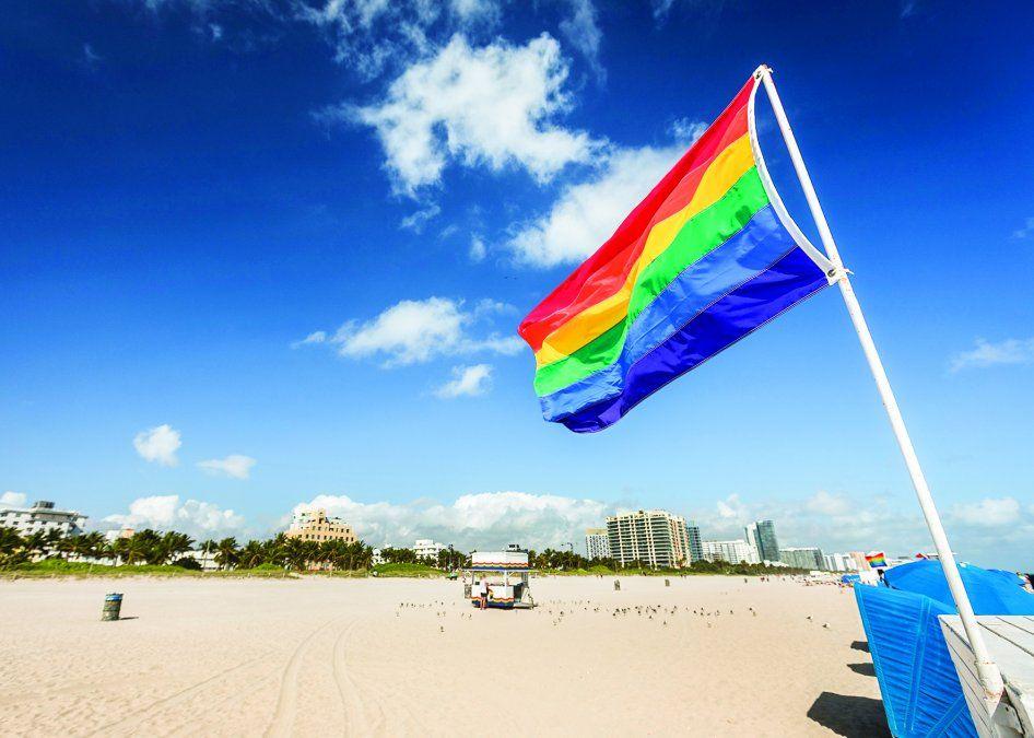 Todos son bienvenidos a las hermosas playas de Miami.