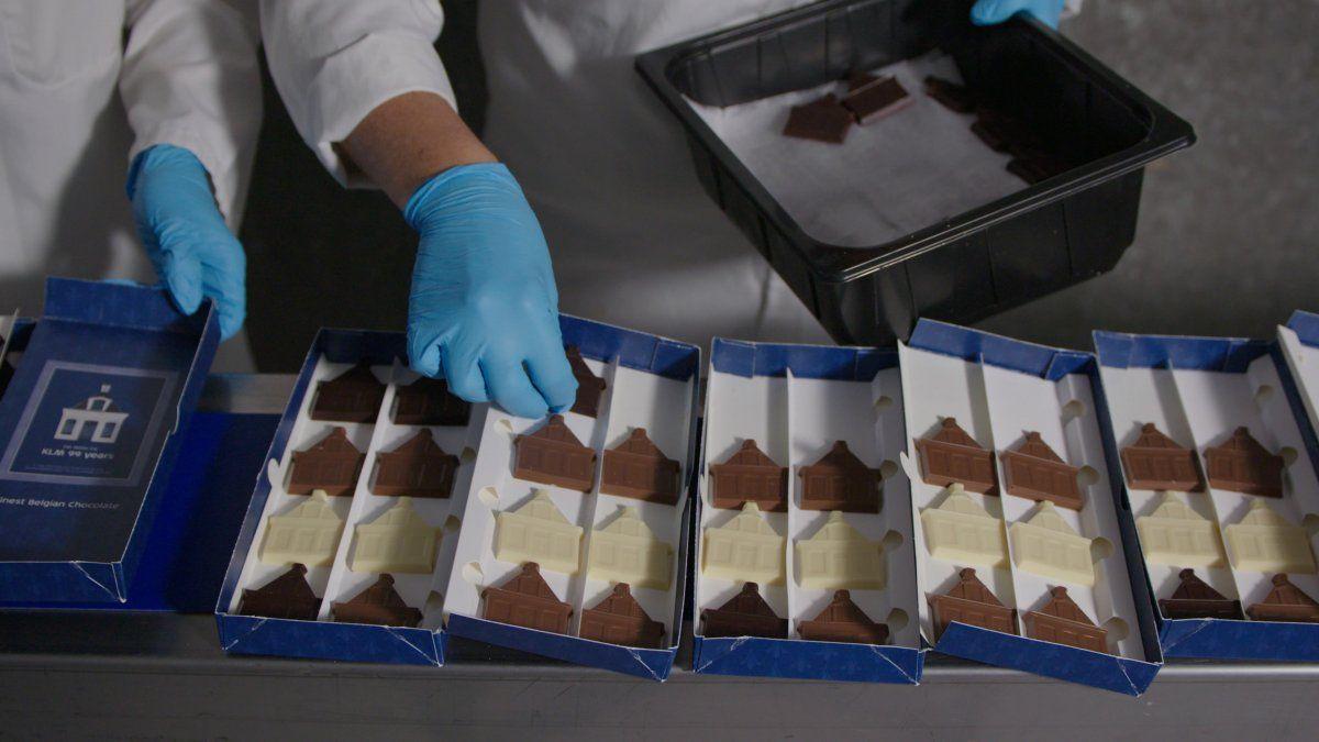 Chocolate sustentable para los pasajeros de la clase Ejecutiva.