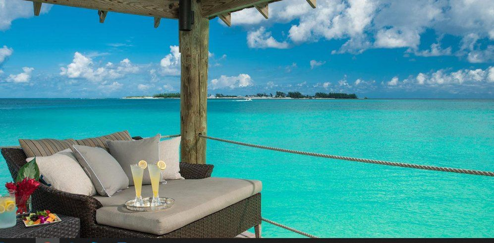 Una vista de la isla del SandalsRoyal Bahamian.