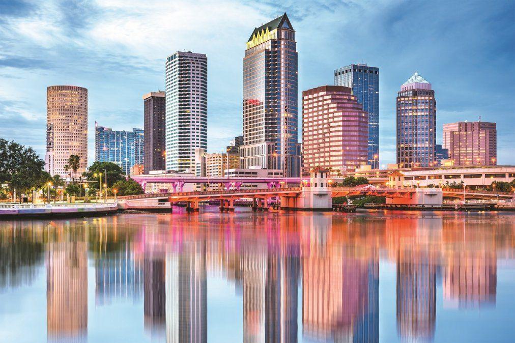 La vista de Tampa Bay y su bahía iguala a la de cualquier gran urbe.