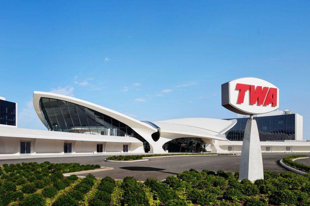 El TWA Hotel y su novedoso diseño.