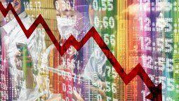 Caídas de los niveles de ocupación durante crisis globales.