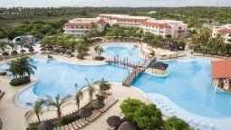 Una vista aérea delGrand Palladium Imbassaí Resort & Spa.