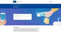 Re-open EU, la herramienta tecnológica de la Unión Europea para encarar viajes seguros.