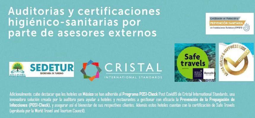 Los hoteles en México se han adherido al Programa POSI-Check Post Covid19 de Cristal International Standards.