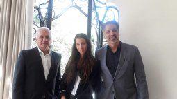 Eduardo Cruz del Río, vicepresidente de Operaciones para Latinoamérica y el Caribe; Jimena Faena; y Alejandro Moreno, presidente y director general para Latinoamérica y el Caribe.