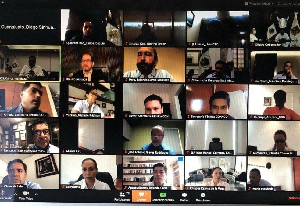 Reunión virtual de la Comisión Ejecutiva de Turismo de la Conago.