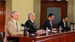 Miguel Torruco, durante la conferencia con autoridades del sector salud.