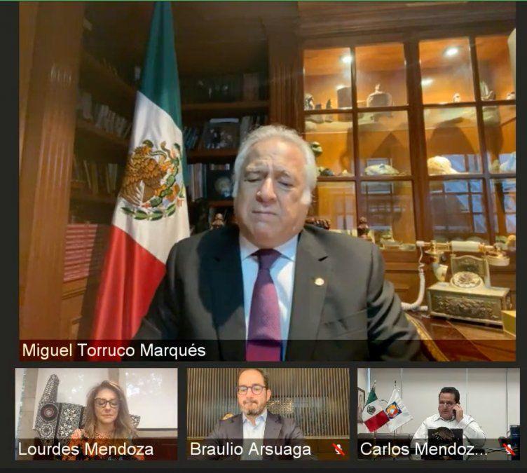Miguel Torruco durante su intervención en el foro del CNET.