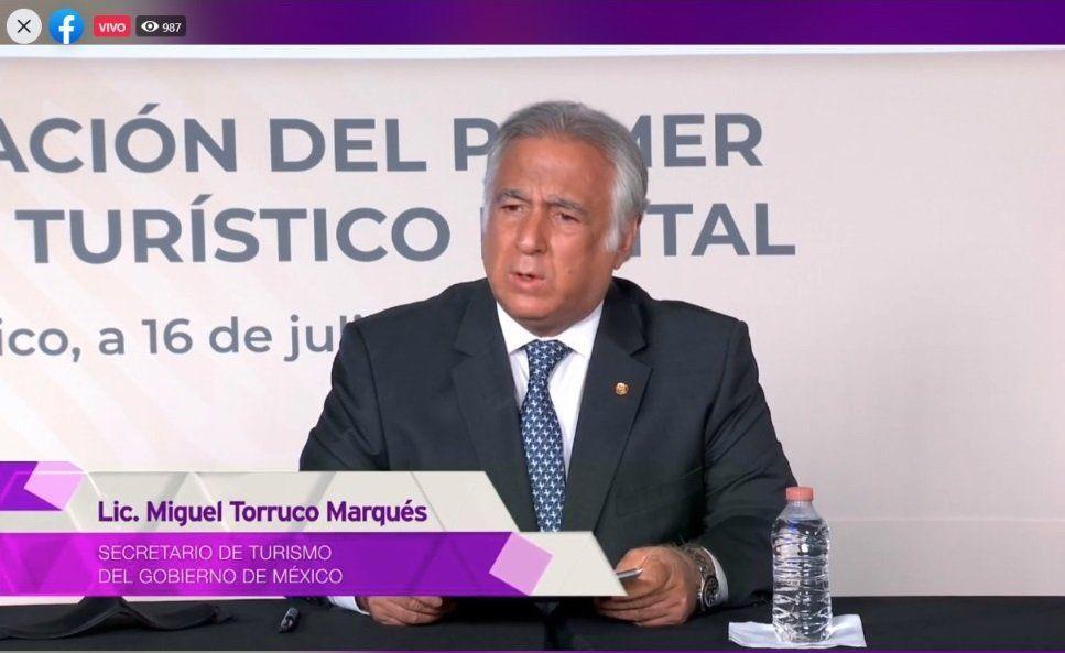 Miguel Torruco, secretario de Turismo.