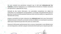 Braintivity S.A. de C.V. informó sobre la suspensión de la plataforma Visit México.