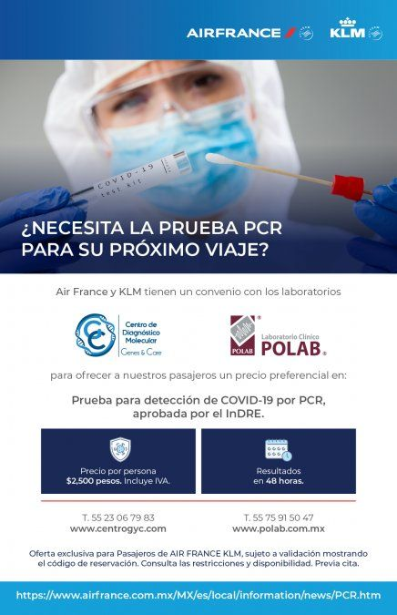r France-KLMfirmaron un acuerdo con tres laboratorios mexicanos.