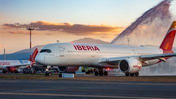 Nuevo Airbus A350 de Iberia aterrizó en Ecuador