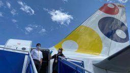 Viva Air sigue trabajando en vuelos humanitarios.