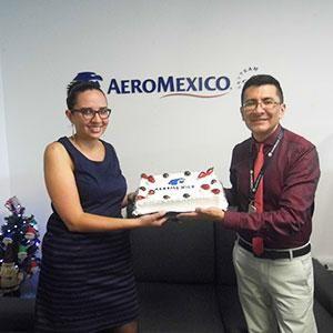 Aeroméxico celebró su 3º aniversario en Ecuador
