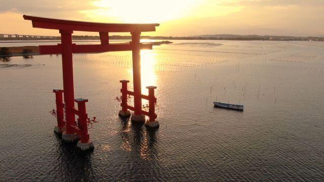 Los tradicionales torii japoneses.