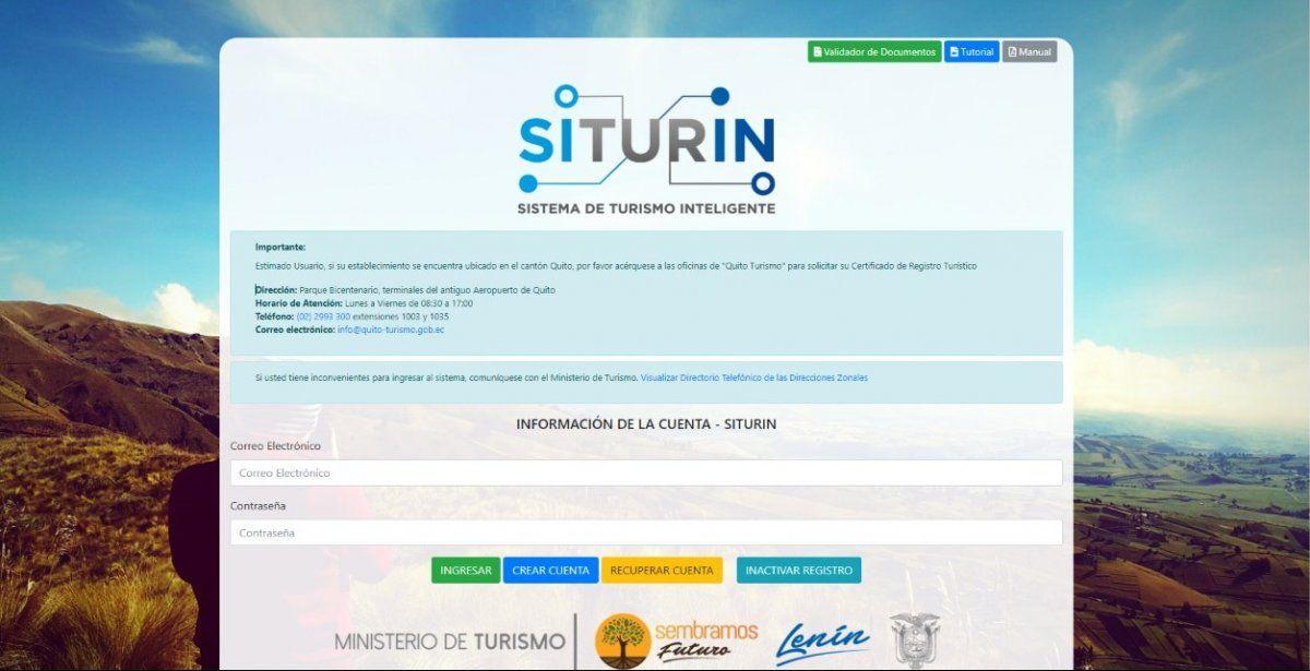 El Mintur indicó que hasta el 10 de marzo los prestadores turísticos podrán actualizar sus datos. En la capital ecuatoriana el trámite se realizará con Quito Turismo.
