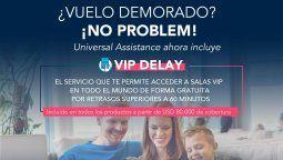 VIP Delay, nuevo servicio de Universal Assistance.