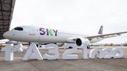El primer Airbus A321NEO de Sky Airline