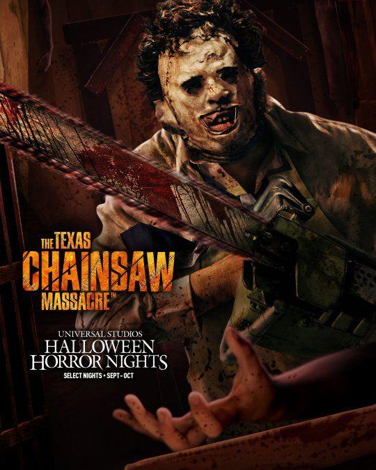 La masacre de Texas, un clásico de Halloween en los parques Universal.