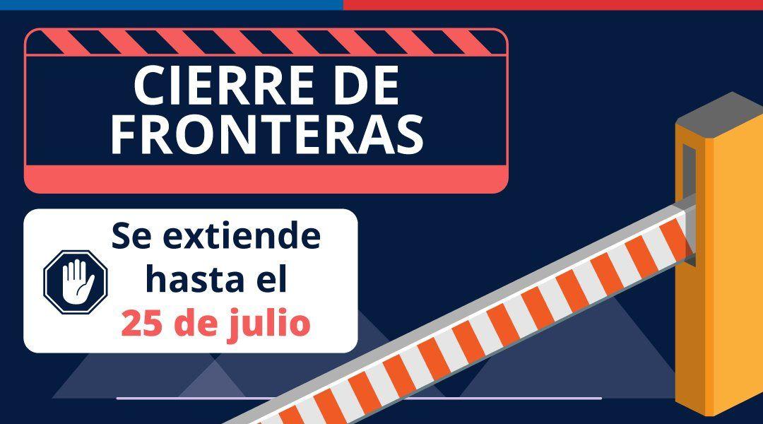 Chile mantendrá cerradas las fronteras hsta el 25 de julio.