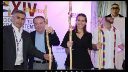 Autoridades del Congreso de Turismo Religioso tras anunciar una nueva edición del evento.