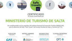 Este reconocimiento es de vital importancia para Salta, dado que, desde el inicio de la pandemia, aunó esfuerzos en un trabajo mancomunado con el sector privado y las carteras municipales de Turismo.