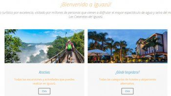 Iguazú presentó su nueva web interactiva