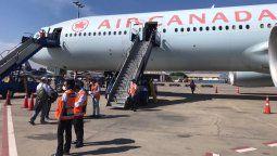Air Canada operó vuelos humanitarios