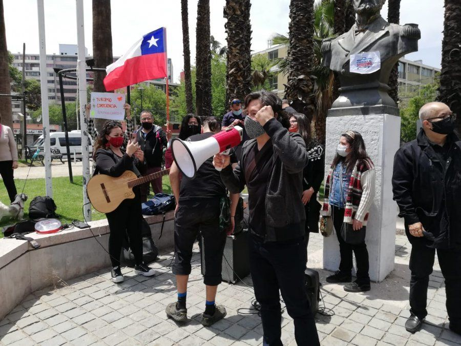 Sergio Pino ha encabezado las movilizaciones por la Ley de Rescate al Turismo.
