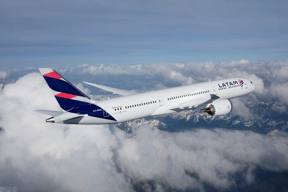 Uno de los Boeing B-787 Dreamliners de Latam Airlines Group.