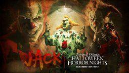 Jack the Clown es uno de los personajes principales de las Halloween Horror Nights de Universal.