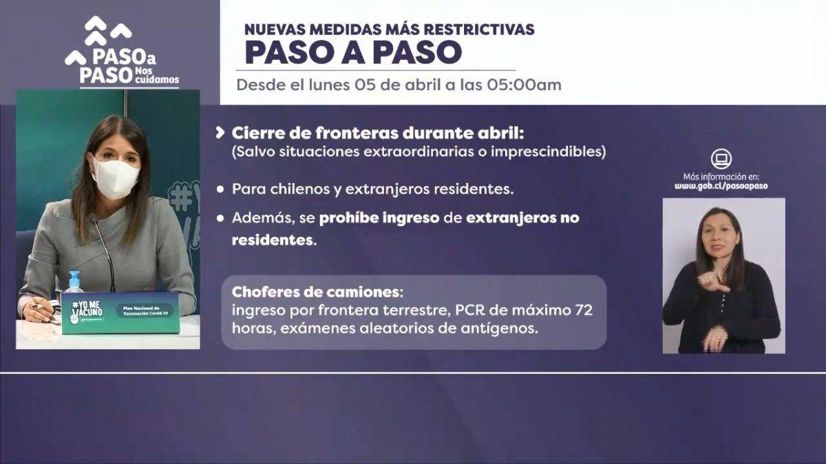 Chile endureció las restricciones debido al aumento considerable de casos de Covid el último mes.