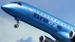 Breeze Airways ha comenzado a operar regularmente.