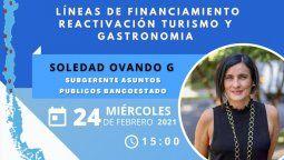 Será realizado por Soledad Ovando, subgerente de Asuntos Públicos de Banco Estado.
