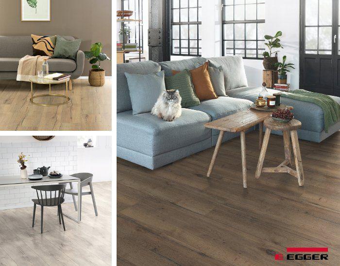 Egger Pro 2021+ abre nuevas posibilidades de decoración en pisos de alto tránsito.