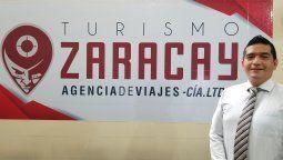 Frank Méndez, administrador general de la agencia Turismo Zaracay.