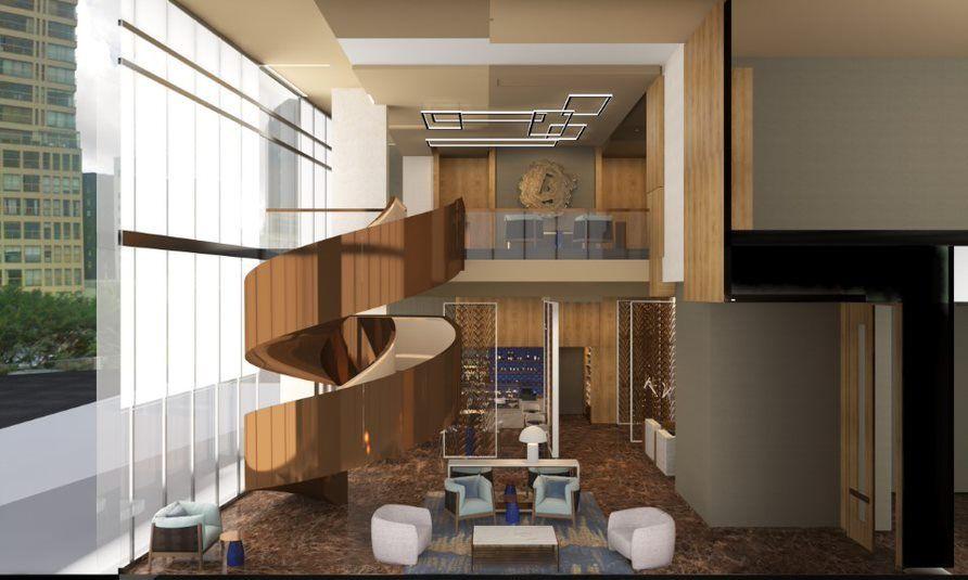 Interior del flamante hotel de Iberostar en Lima.