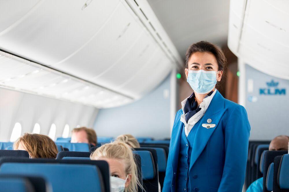 KLM aplica medidas de salud y seguridad, evitando todo posible el riesgo de contaminación a bordo y en los aeropuertos.