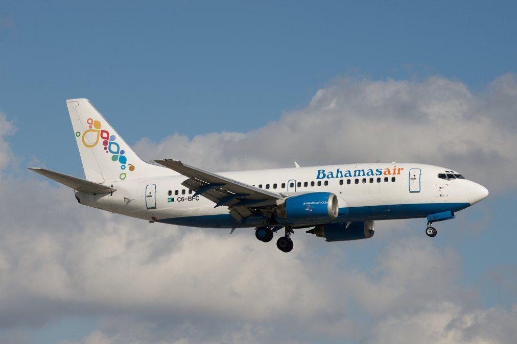 Un Boeing B-737/500 de Bahamasair