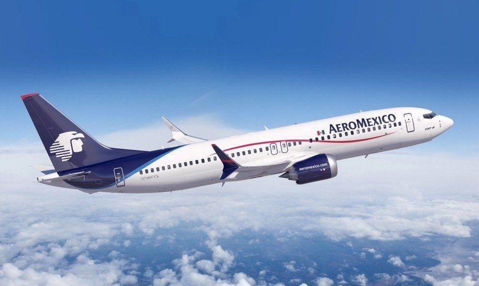 Un Boeing B-737MAX de Aeroméxico que pidió extender el Capítulo 11.