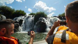 Los Saltos del Moconá son uno de los atractivos que aborda esta capacitación sobre la provincia de Misiones.